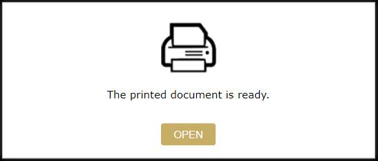 The print document is ready.